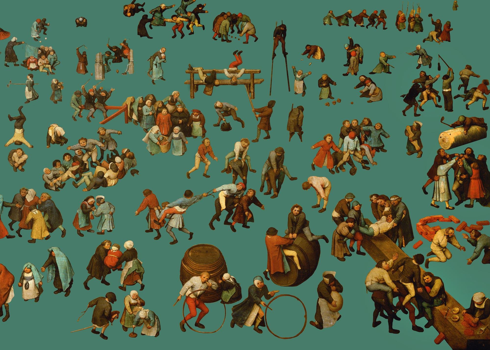 Graphic representation from Pieter Bruegel the Elder, Children's Games, 1560