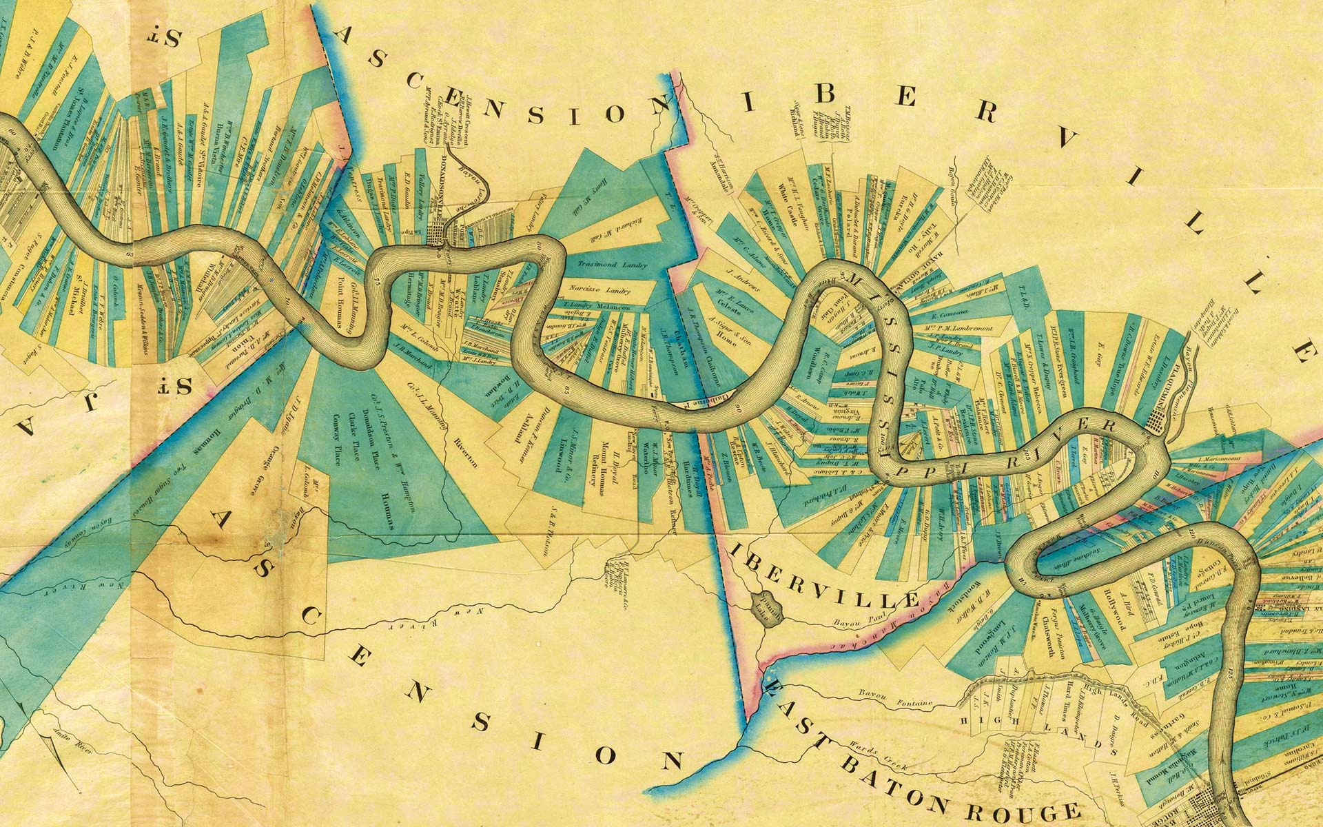 Reworking of a map of the Mississippi, David Rumsey Map Collection