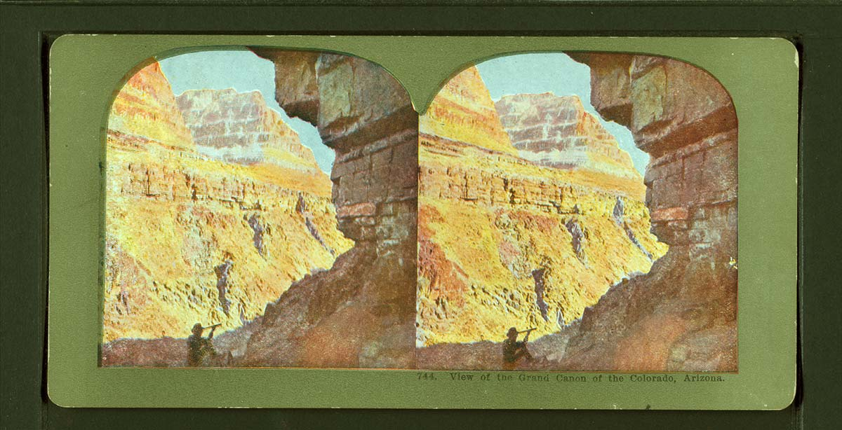 Vista stereoscopica del Grand Canyon in Arizona, fine ottocento. New York Public Library