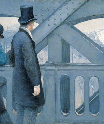 Gustave Caillebotte, 'Auf der Europa-Brücke'(1876-1877); Öl auf Leinwand, Kimbell Art Museum - Mit freundlicher Genehmigung von Wikimedia Commons