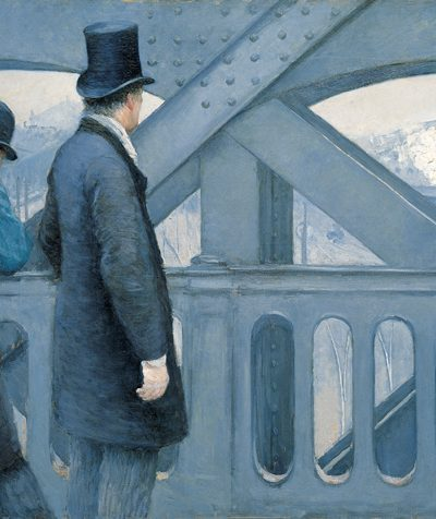 'On the Pont de l'Europe', oil on canvas painting by Gustave Caillebotte, 1876-77, Kimbell Art Museum -  Courtesy: Wikimedia Commons